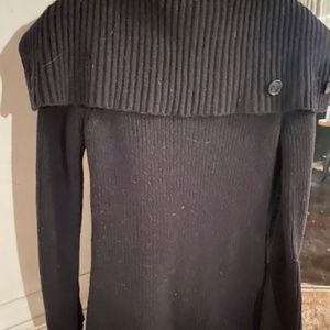 Theory Sweaters - Theory Morton black wool Double Breasted Cardigan